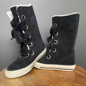 Converse Black Suede 10.5 Ultra High Tops